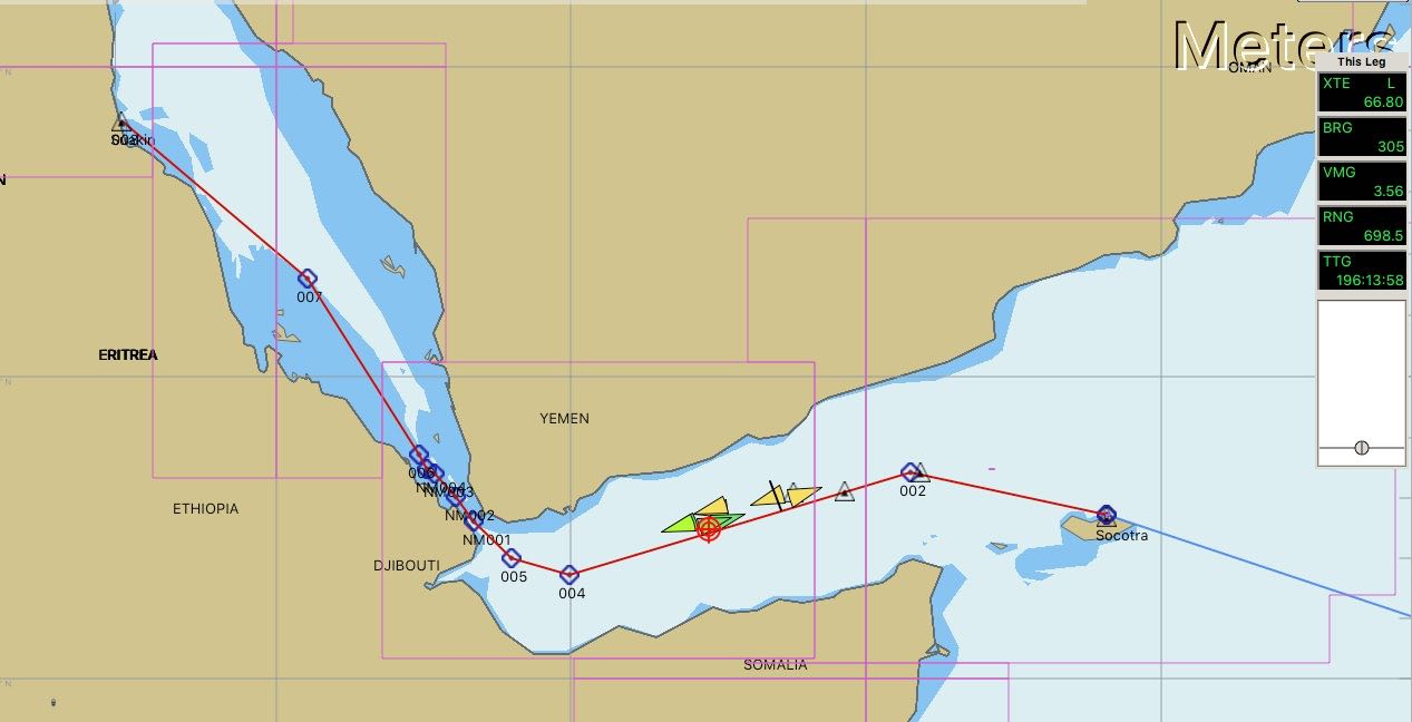 Gulf of Aden and into the Red Sea Laraghs voyage